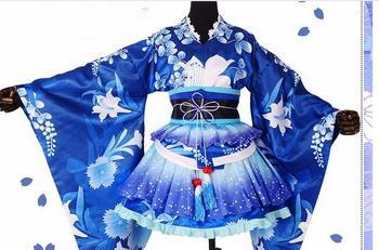 LoveLive! Awaken Yukata  Sonoda Umi Cosplay Costume Halloween Kimono Outfit