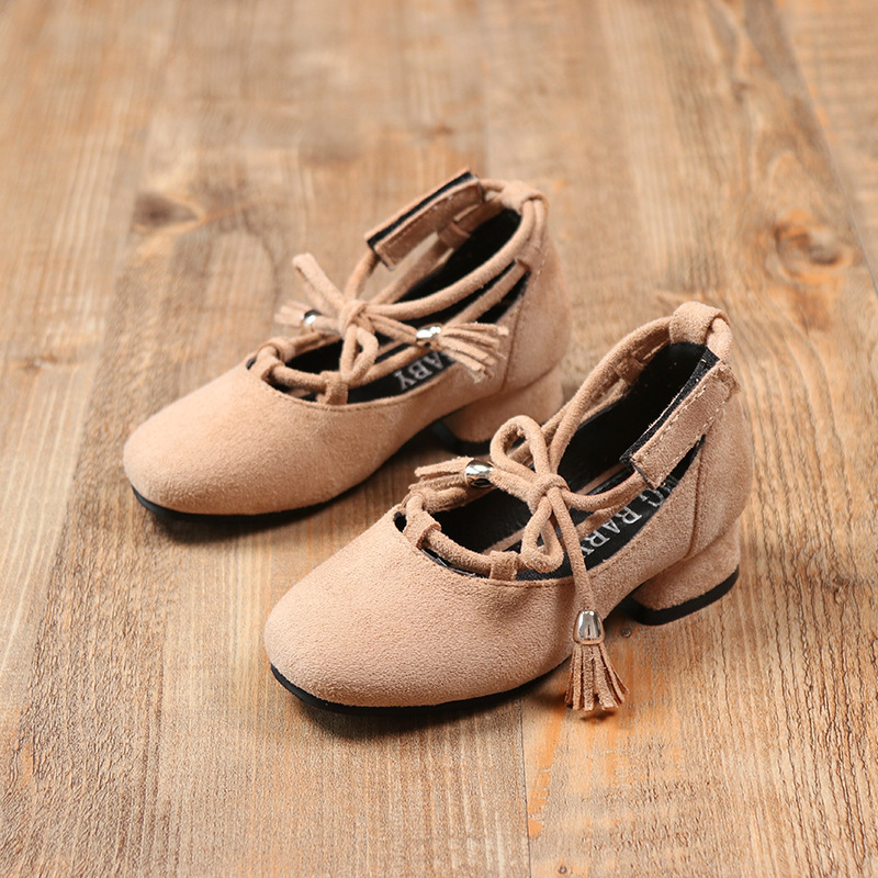 Autumn/Spring Children Shoes Kids Girls Leather Shoes Fashion Sandals High Heels Glowing Shoes Princess Girls Students Shoes