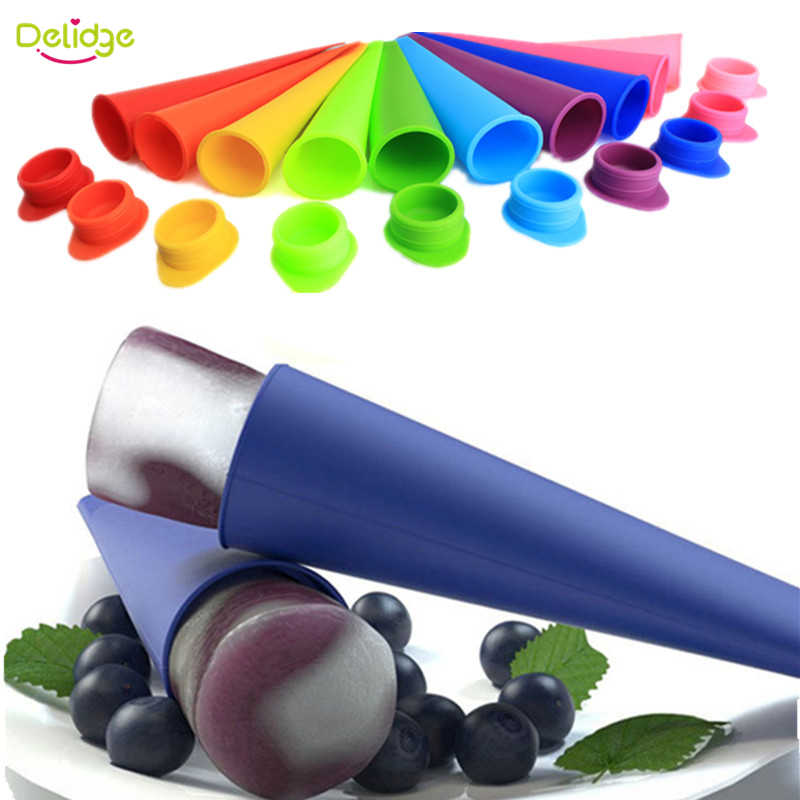 Delidge 1pc Popsicl Mold Silicone Colorful Ice Tube Mould DIY Summer Ice Cream Maker  Ice Pop Maker Mold  Random Color
