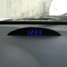 Auto Orologio Elettronico Ornamento Automotive Notturna Modalità di Temperatura Interna Voltmetro Decorazione Orologio Multifunzione Accessorio