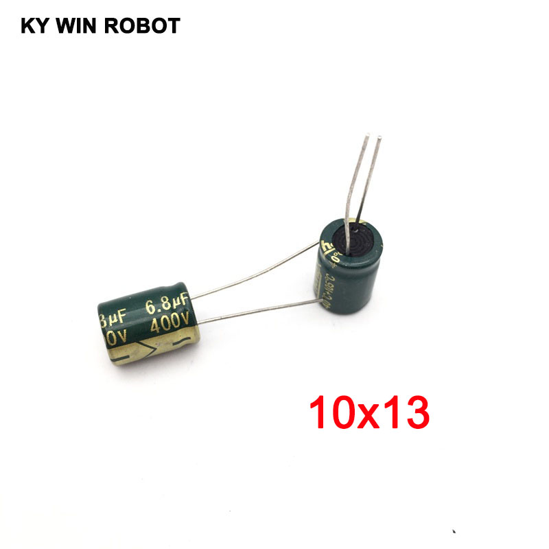10pcs 400V 6.8UF 10x13mm 105C Radial High-frequency Low Resistance Electrolytic Capacitor 6.8UF 400V