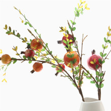 Pomegranate fruit artificial bean branch berry artificial flower home decoration wedding decoration fake flowers garden decor цена и фото