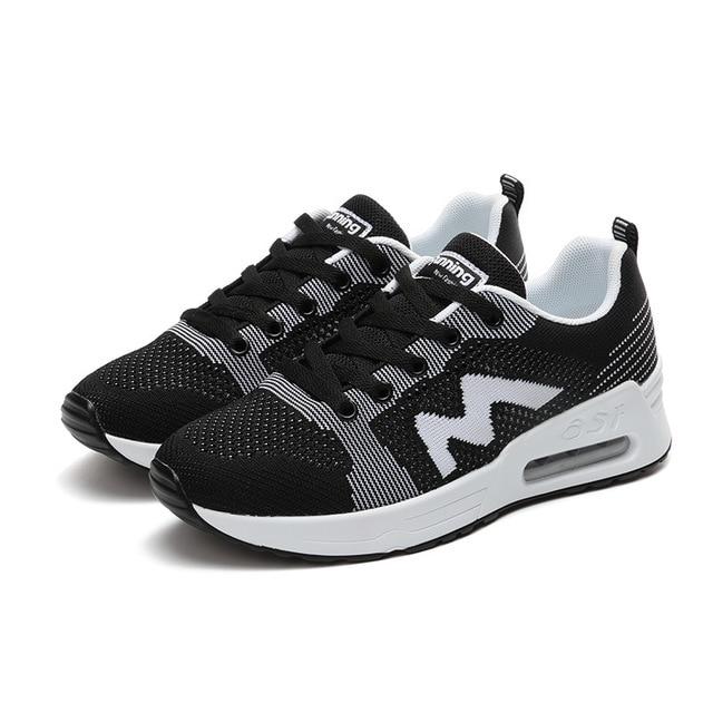 Onke 2017 New Design Flywire Women Gym Shoes Women s Running Shoes sapatos  feminino esportivo Jogging Air Cushion Women Sneakers 9ccf309befa