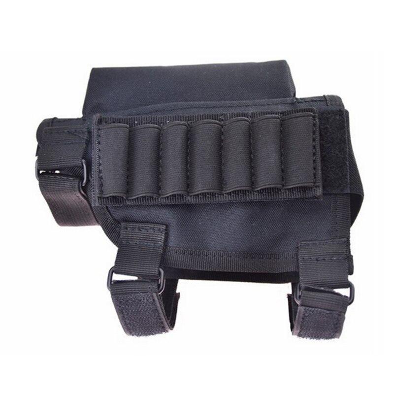 2019 neue Tragbare Einstellbare Tactical Butt Lager Gewehr Wange Rest Beutel Kugel Halter Tasche Rest mit Munition Träger Fall