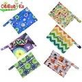 Ohbabyka Reusable Cloth Diaper Bag 18*14cm Travel Hanging Bags Waterproof Menstrual Nursing Pads Bag Mini Small WetBag 6 Colors