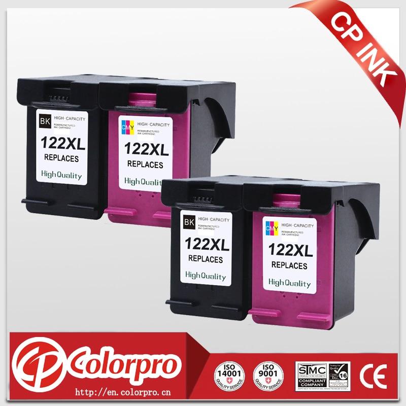 CP 122 Reemplazo para HP122XL 122 Cartucho de tinta para HP Deskjet 1050a 1050 2050 2050s 3050A 3052A 3054 1010 1510 2540 (2BK / 2C)