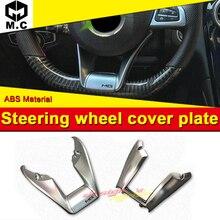 E-Class W213 E43 Look Add on Style Steering Wheel Low Cover Trim Plate ABS silver 1:1 Replacement E200 E250 E300 E350 E400 16-18 цена