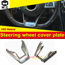 W205 Automotive interior Steering Wheel Low Cover plate ABS Silver A-Style Fit For Mercedes Benz C180 C200 C300 C250 15-in