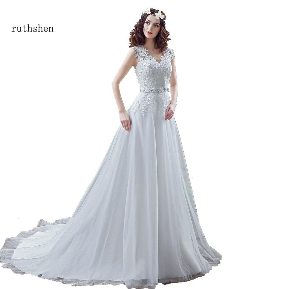 ruthshen Cheap High Low Wedding Dresses 2018 Spaghetti Straps Simple ...