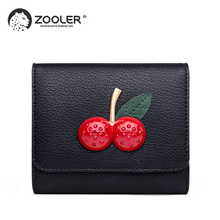 2019 HOT fashion leather woman wallet small ZOOLER Cow Leather Wallets purse clutch bag girl luxury brand high quality #TC205