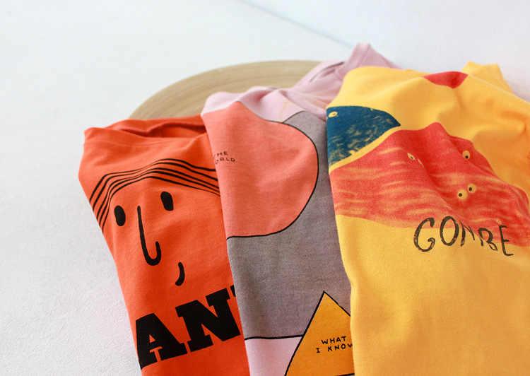 قميص للأولاد الأولاد الملابس بوبو سلسلة الصيف الكرتون الفتيات القطن فضفاض T قميص عارضة قمم المحملات تي شيرت الأطفال الملابس 1-8Y
