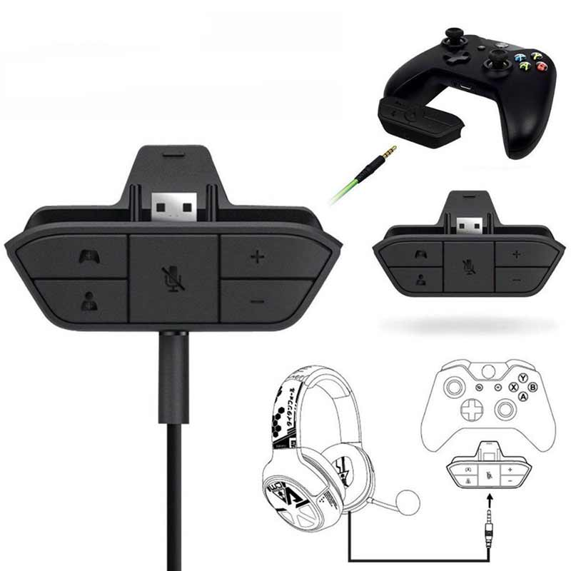 EastVita Black Stereo Headset Adapter Headphone Converter For Microsoft Xbox One Wireless Game Controller Headset Adapter R25