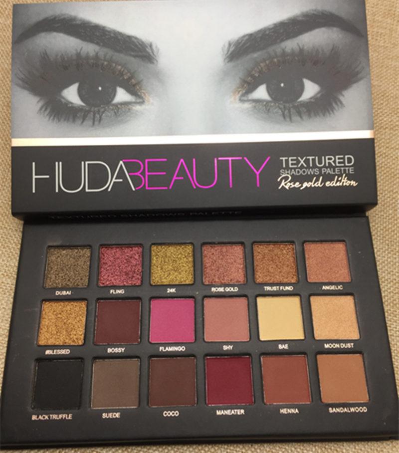 NEW Palette Huda Beauty Shimmer Eyeshadow 18 Colors STAMP Palette Matte Eyeshadow Glitter Palette Make Up Set Beauty Matte цена 2017
