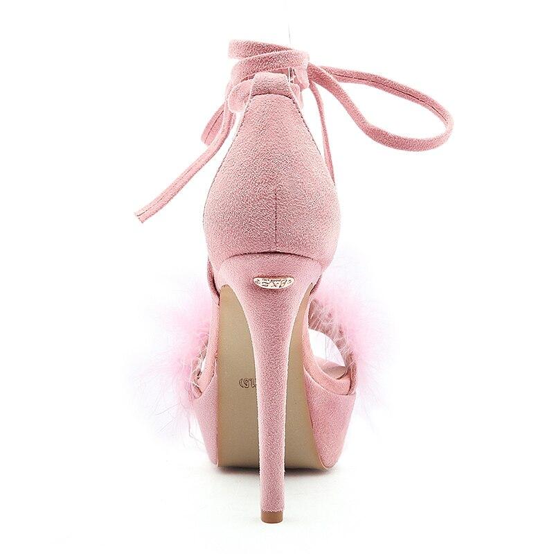 Schwarzes 43 Sommer Schuhe Ldhzxc rosa Heels Plattform 34 Größe Sandalen Thin Frauen High 2018 Strap Ankle aw6aqO8Ux