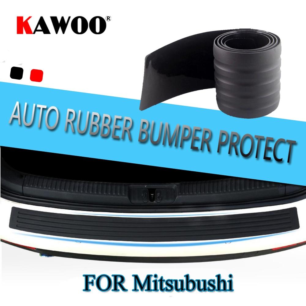 KAWOO For Mitsubishi ASX Outlander I-Miev Shogun Colt Wagon Rubber Rear Guard Bumper Protect Trim Cover Sill Mat Pad Car Styling футболка print bar shogun assassin