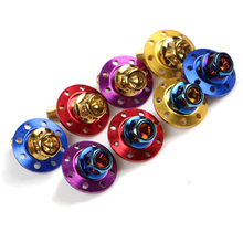 2 PCS Electric Motorcycle M8 Fender Screw 304 Stainless Steel Colorful Screw Outer Hex Flange Cap
