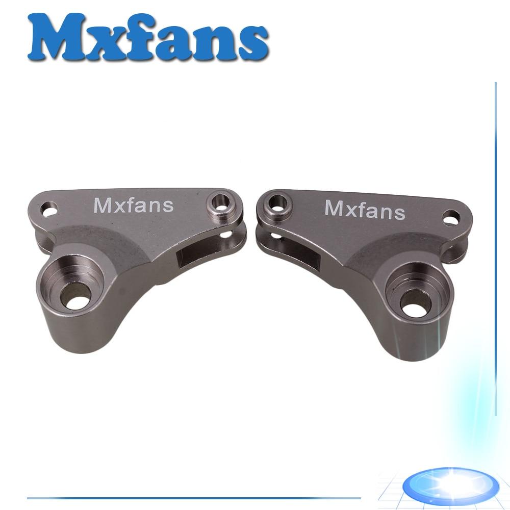 Mxfans 2X Titanium Color Aluminium Alloy ERO-002 Upgrade Rear Shock Suspension Arm for TRAXXAS E-REVO RC 1:10 Largefoot Car стоимость