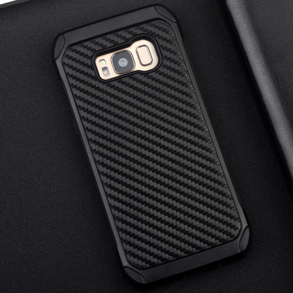 best service b7adb 28193 US $5.24 30% OFF|KEYSION Case for Samsung Galaxy S8 S8 Plus Carbon fiber  texture PC+TPU 2 in1 Anti knock Protective Back Cover for G950 G955-in  Fitted ...