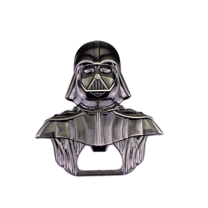 High Quality Star Wars Lord Darth Vader Bar Beer Bottle Cap Opener Keyring Movie Star Wars Black Warrior Keychain Gift