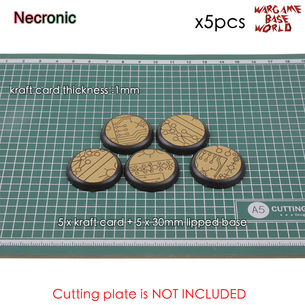 Kraft Card Texture Bases - 30mm Lipped Bases - Texture Bases For Warhammer