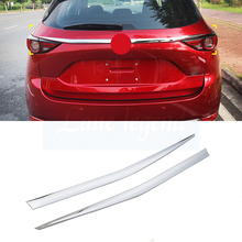 for 2017 2018 Mazda CX-5 CX5 KF refit rearguards trunk rear bumper tail box trim car rearguards trunk rear tail box bumper pedal plate car styling for skoda karoq 2017 2018