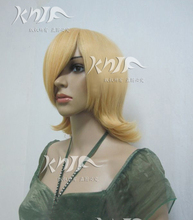 Good quality RIN hair accessories 170g 33cm golden synthetic hair jewelry for Kagamine cosplay wigs