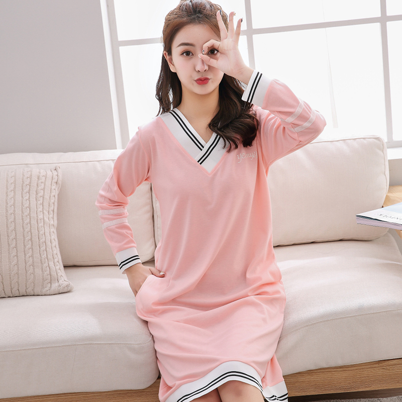 Fashion Nightdress Women Sleepwear Home Dress for Women Sleepdress Leisure Leisure Nightgown Autumn Winter Student Nightdress