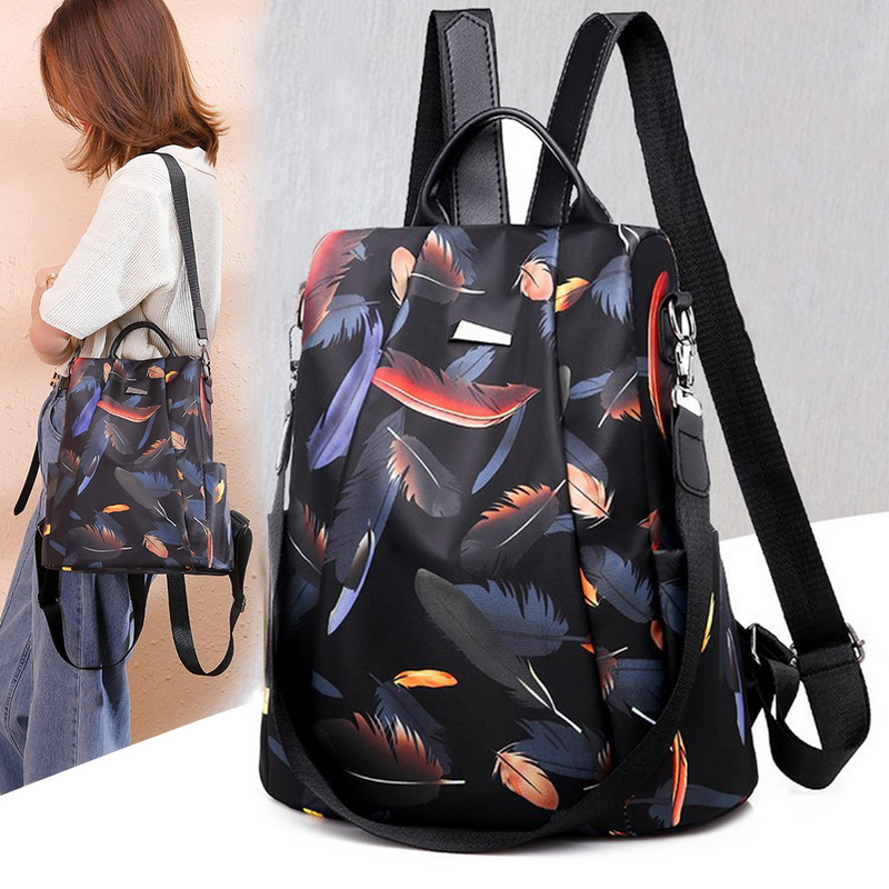 Litthing 2019 New Women's Fashion Anti theft Exquisite Print Backpacks  Girls Oxford Casual Travel School Backpack Shoulder Bags|Backpacks| -  AliExpress