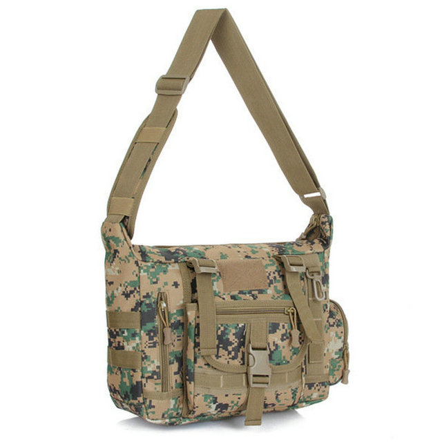 f48155d9e3e Men's Camouflage Messenger Bag Military Army Mountaineer Travel Duffle Multi -pocket Organizer Durable Shoulder Bag
