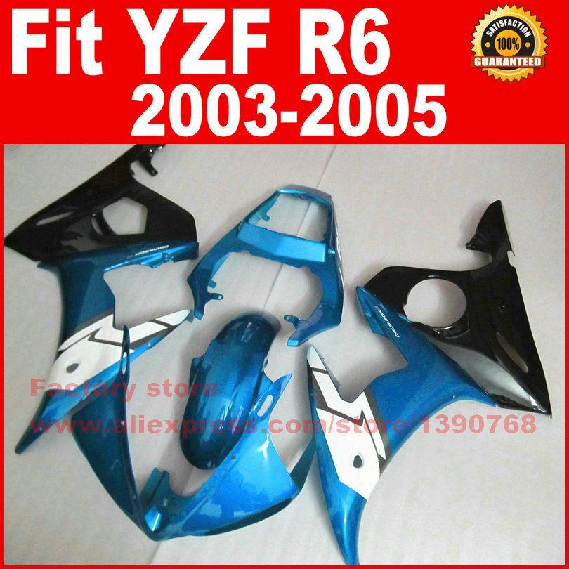 7 gifts motorcycle ABS fairings set for 2003 2004 2005 YAMAHA R6 light blue YZF R6 03 04 05 fairing kits body repair parts