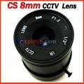 CS 8mm aleación monofocal iris fijo cctv lente de la cámara con el clavo