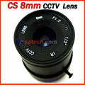 CS 8mm cctv camera lens fixed iris monofocal alloy with nail