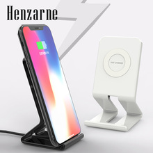 Henzarne Wireless Charger, Wireless Charger Compatible iPhone XR/XS Max/XS/X / 8/8 Plus Samsung Galaxy S9/S9+/S8