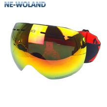 New products double layers lens rimless goggles for skiers,anti-uv 400,anti-fog,wind proof, passed CE certification.