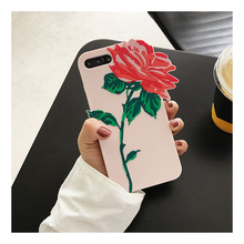 Fashion 3D Rose flower I'm very Busy case for iphone 8 8plus Soft silicon case For iphone 6 6s 7 6/6s 7 Plus Coque back cover
