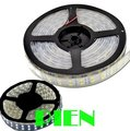 Double row 5050 rgb led strip light 120 leds m dual sided density Waterproof ip65 tape ruban tiras 5m 12v white Free Shipping 5M