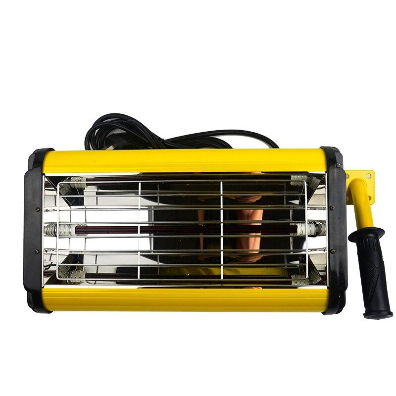 Lampe de cuisson de peinture à main 600 w équipement de peinture de voiture la lampe de la laque qui cuit la lampe de chauffage infrarouge de haute qualité