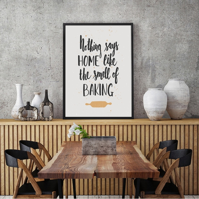 Kitchen Wall Art Pendant Lighting Home Like Smell Of Baking Print And Poster Quote Canvas Painting Prints Decor