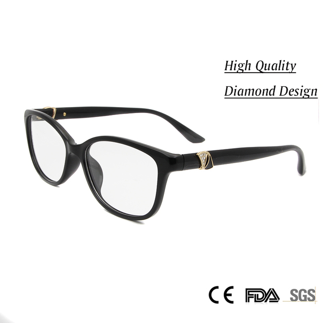 14055a63188 High Quality Women Spectacles Eyewear Handmade Acetate Women s Glasses  Optical Myopia with Diamond Luxury Glasses for