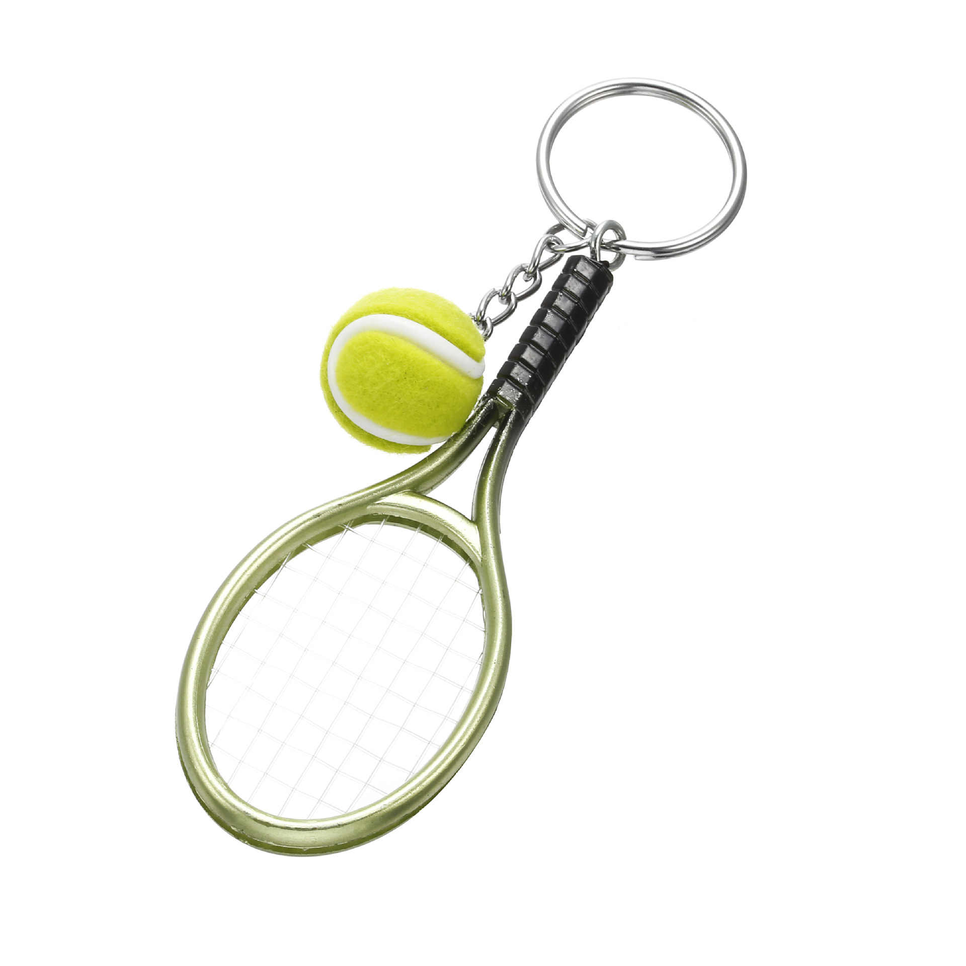 Mini Tennis Keychain Bag Charm Pendant Ball Ornaments Women Men Kids Key Ring Sports Fans Souvenir Birthday Gift Wholesale