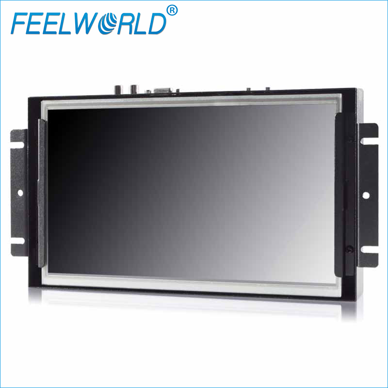 P101-9AHT 10.1 Inch Touch Screen Monitor 1024x600 IPS Open Frame Monitor LCD Metal Panel Mount Industrial Monitors Feelworld