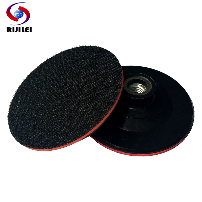 (4BFR14) Hold M14 4inch/100mm Rubber Backer Pad Thin Hook & Loop Sanding Pad Pallet Angle grinder Polisher Polishing Back-up Pad  цены