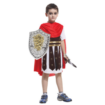 Kids Child Roman Warrior Costume Spartan Gladiator Soldier Costumes for Boys Carnival Purim Halloween Cosplay