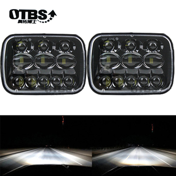 OTBS 2 Pcs 69W Led Headlights 7x6 Sealed Beam Headlamp High Low Beam Led Headlight for Jeep Wrangler YJ XJ Cherokee