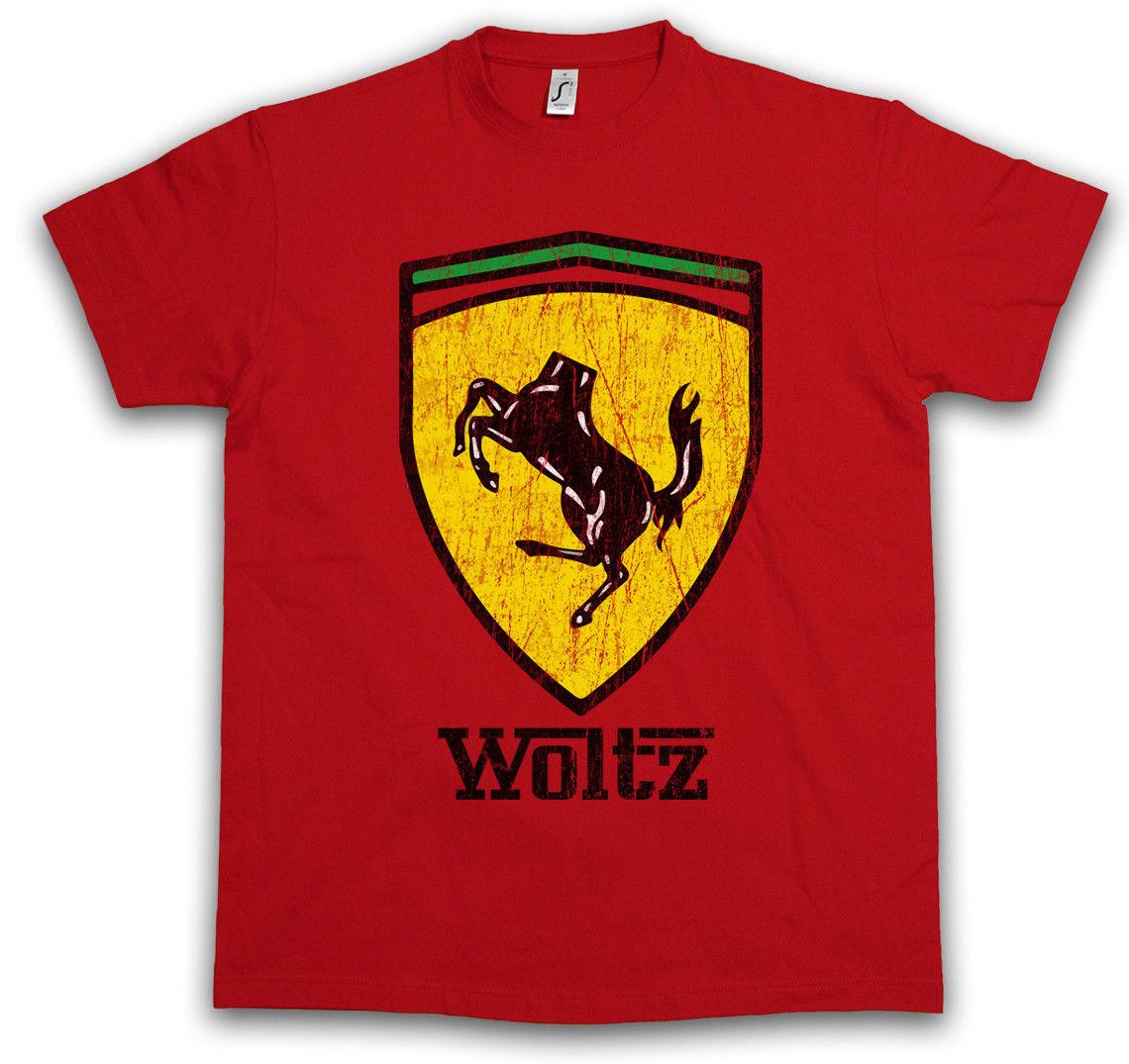 WOLTZ HORSE T-SHIRT Der The Fun Pate Godfather Horse Head film producer Ferrari Round Neck Men Top Tee