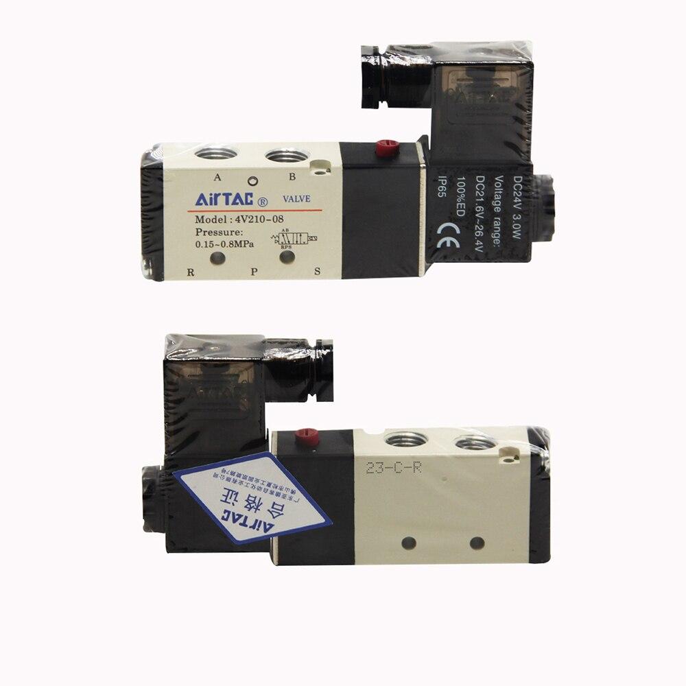 1 4 quot 2 Position 5 Port AirTAC Air Solenoid Valves 4V210 08 Pneumatic Control DC 24V DC12V AC110V AC220V 1 4 quot Port Size in Pneumatic Parts from Home Improvement