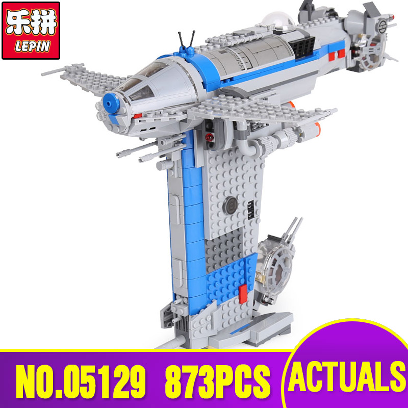 Free Shipping Lepin 05129 Star Plan Series The Resistance Bomber Set Legoing 75188 Building Blocks Bricks Educational Toy Giftd конструктор lepin star plan бомбардировщик сопротивления 873 дет 05129