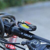 2017 אור שפתוחה אופניים אופני אזהרת בטיחות אור נטענת USB עמיד למים מתח גבוה אור LED Bycicle כידון רכיבה על אופניים
