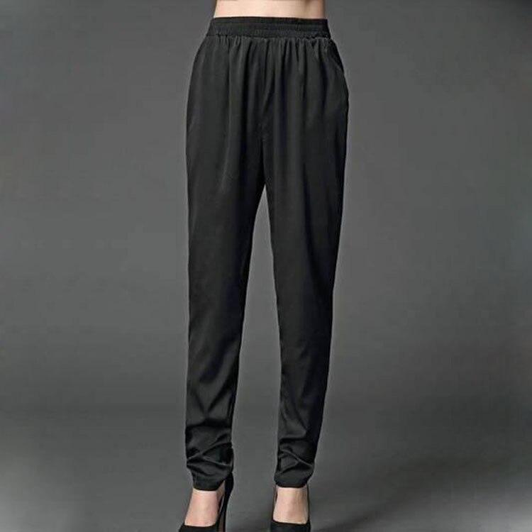 Black Pantalon Mince Haute D'été Dames white Grande Taille De 0099 Soie Harem Lourde 2018 apricot 475wqBq