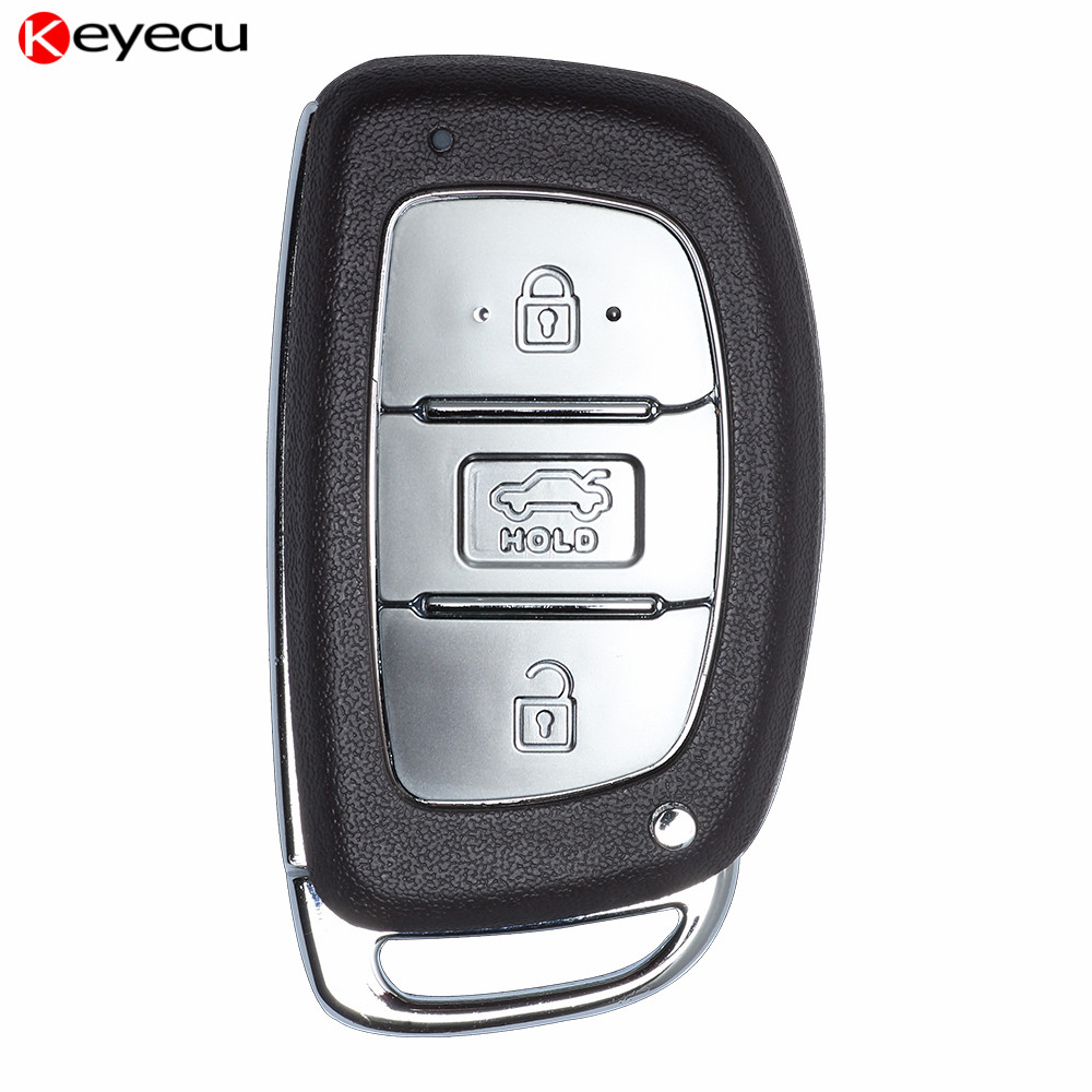 Keyecu New Smart Remote Car Key Fob for Hyundai Elantra 2013+,3 Button 433Mhz with PCF79 ...
